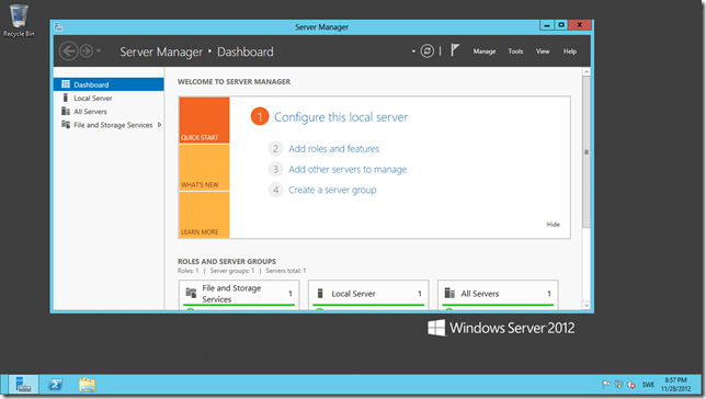 Our new Windws Azure Virtual Machine